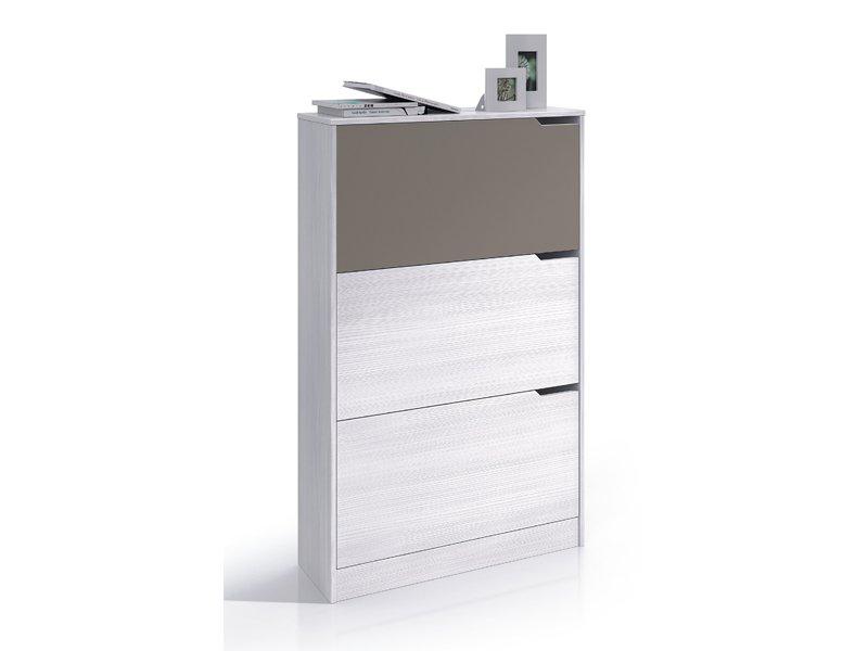 Mueble zapatero de estilo juvenil con 3 puertas y alturas for Muebles zapateros juveniles