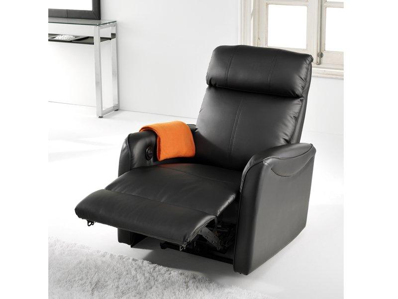 Sillón relax de cuero sintético para masajes reclinable manual