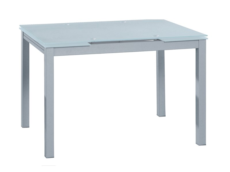 Mesa extensible de cristal glaseado transparente para cocina - Mesa de estudio de cristal ...