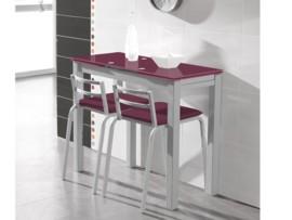 Mesa moderna de cocina metálica
