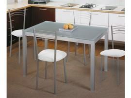 Mesa fija metálica para cocina