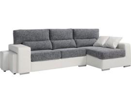 Sofá chaise-longue - 2 puffs adicionales