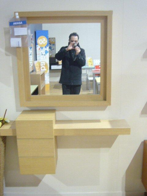 Recibidor hogar oferta de mueble de entrada con espejo en for Oferta espejo pared