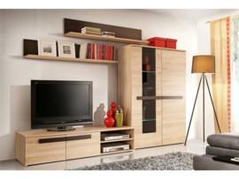 Mueble de salón en roble apilable