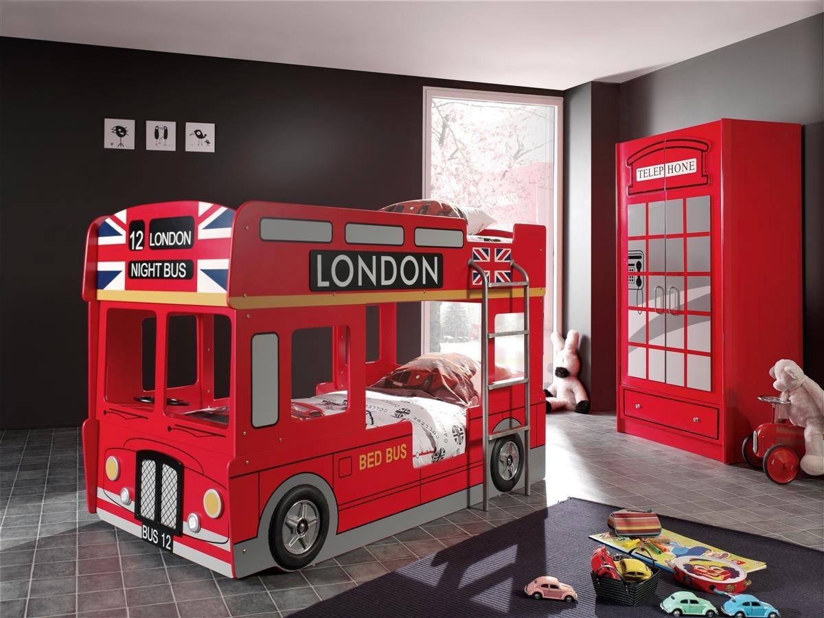 Cama Litera Infantil Roja Lado Colch N Cama Infantil 90 X 190 # Muebles Literas Infantiles