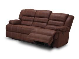 Sofá de 3 plazas con relax chocolate