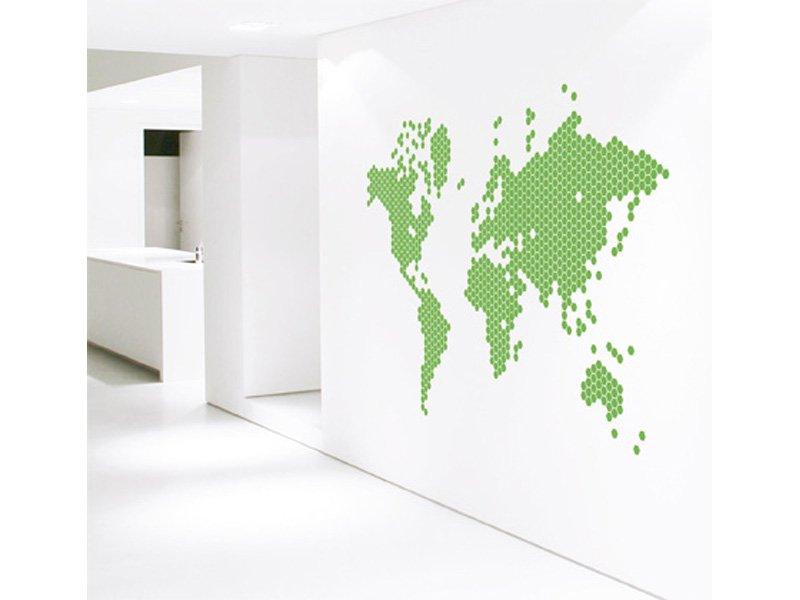 Vinilo mapamundi cuadro mapa del mundo para decoraci n hogar for Mapamundi vinilo pared
