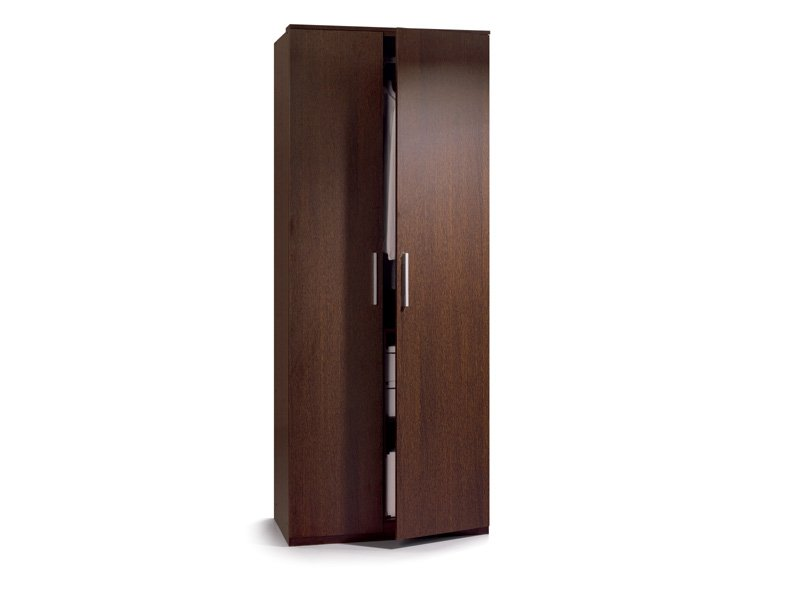 Armario de habitación 2 puertas, mueble armario dormitorio wengué