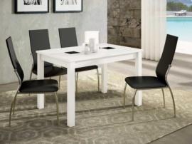 Mesa extensible para comedor y 4 sillas