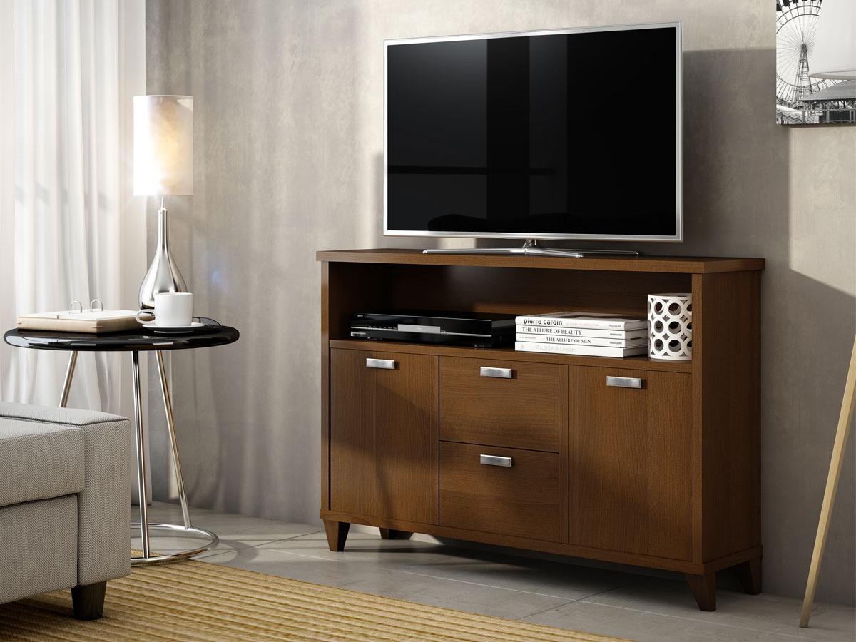 Mueble bajo para televisor con vitrina de la serie rom ntica - Muebles para teles ...