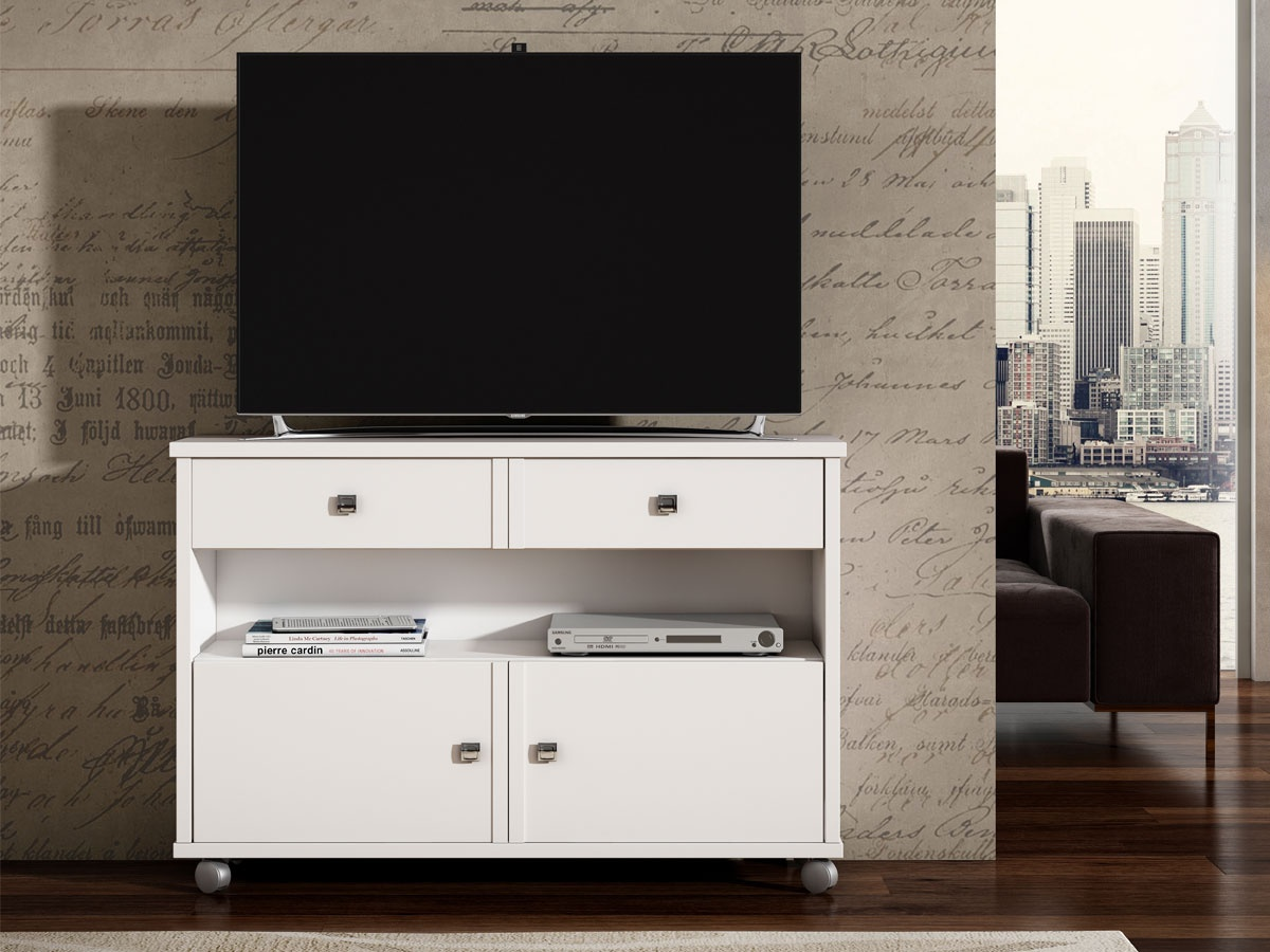 Mesas con ruedas para tv dise os arquitect nicos - Mesa de television ...