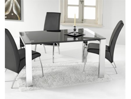 Mesa extensible negra comprar mesa de color negro para - Mesa escritorio extensible ...