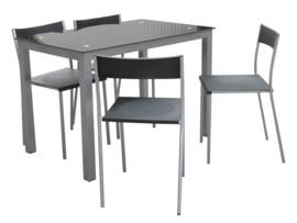 Mesa con 4 sillas de cocina
