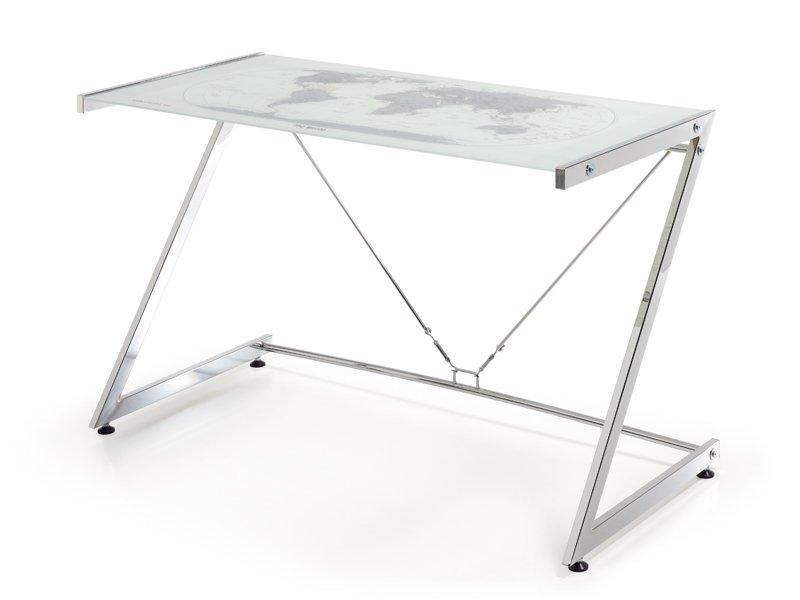 Escritorio para ordenador mesa mueble de ordenador en cristal for Mesa escritorio cristal