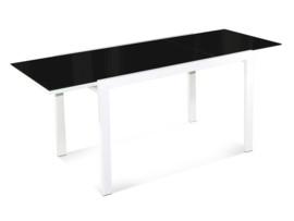 Mesa de comedor extensible de cristal negro