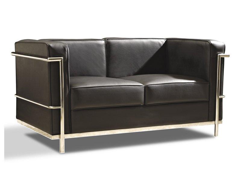 Sof de piel con estructura de acero comprar sof s de - Sofas modernos de piel ...