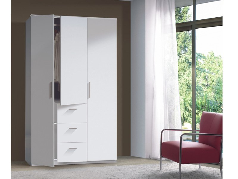 Armario dormitorio wengu comprar armario 3 puertas color for Armarios de habitacion