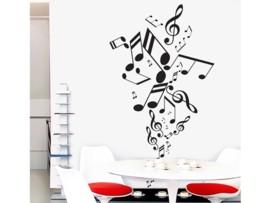 Vinilo de Notas musicales de diseño