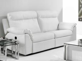 Sofá con relax tapizado en crudo