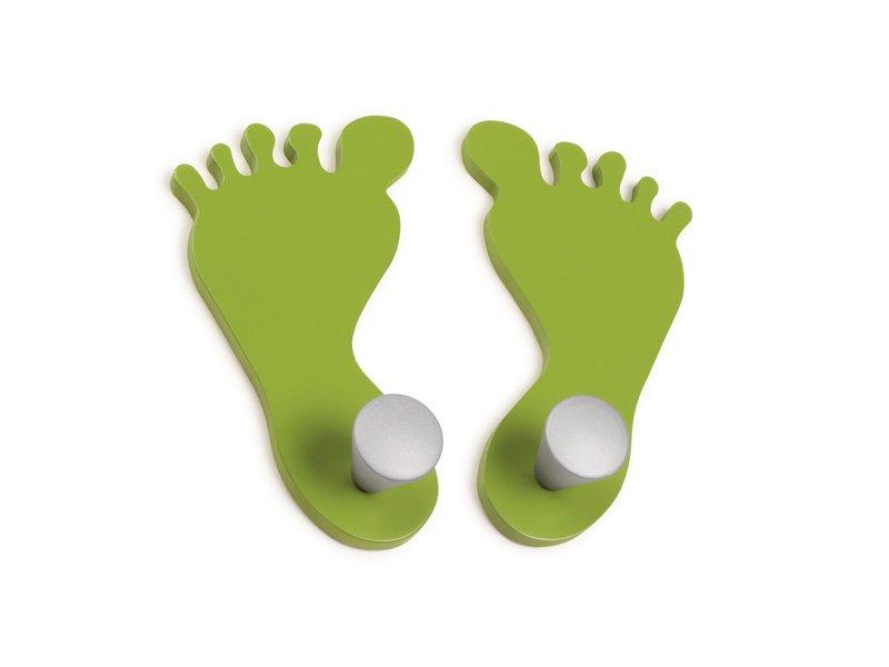 Percha infantil pies colgador dormitorio infantil con silueta pie - Percheros pared infantiles ...