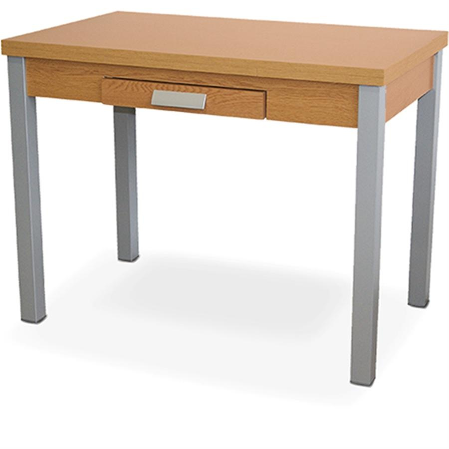 Mesa extensible lateral para cocina con tapas de aglomerado - Mesa cocina con sillas ...