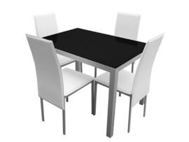 Mesa de cocina y sillas tapizadas polipiel