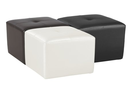 Pouff cuadrado tapizado en polipiel for Puff cuadrados