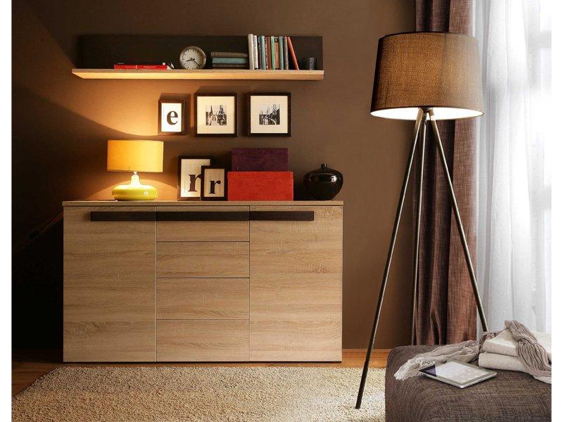 auxiliar roble, mueble auxiliar wengue, mueble decoracion en roble