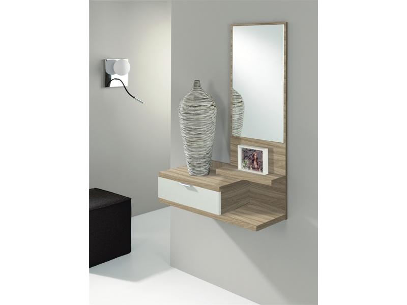 Mueble recibidor de hogar wengué, oferta de mueble madera recibidor