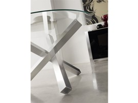 mesa de comedor con diseo de pie central