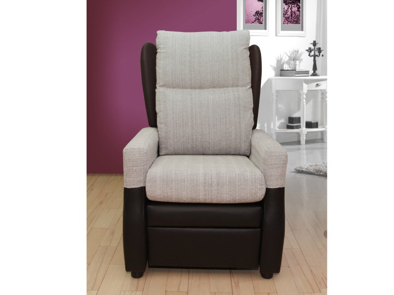 Sill n relax con resposapi s de tipo reclinable orejero manual for Ver sillones relax