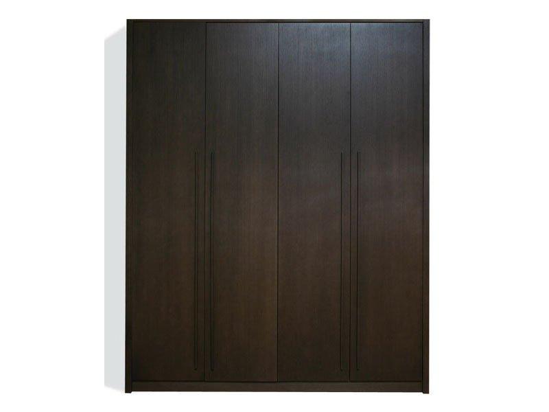 Armario habitaci n de madera wengu 4 puertas mueble de for Puertas color wengue
