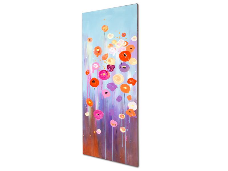 Cuadro oleo flores a 40x120cm for Santiago pons decoracion