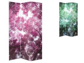 Biombo digital floral 120x180 cm.