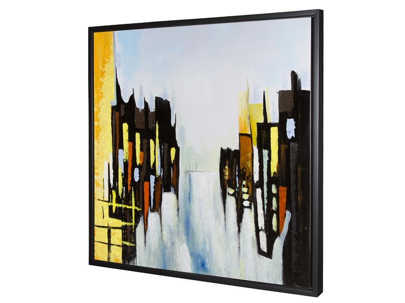 Cuadro oleo abstracto c 85x85 for Santiago pons decoracion