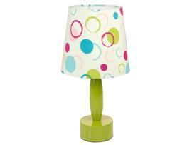 Lámpara metal círculos verde 24x24x27 cm