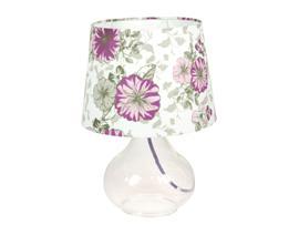Lámpara cristal flores 25x25x26 cm