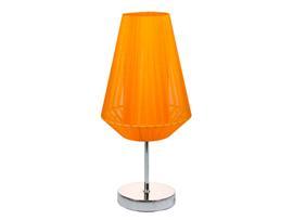 Lámpara metal naranja 17x17x26 cm