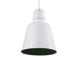 Lámpara techo metálica blanca 20x20x26cm
