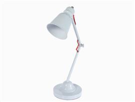 Lámpara metal blanca 35x18x48 cm