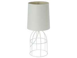 Lámpara mesa blanca 17x17x35 cm
