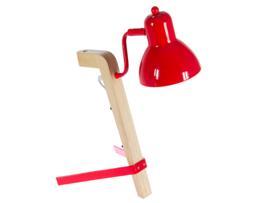 Lámpara flexo roja 30x17x36 cm