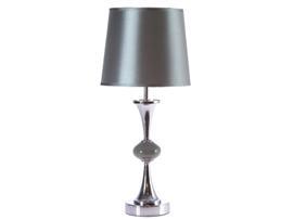 Lámpara mesa plateada 24x24x48 cm