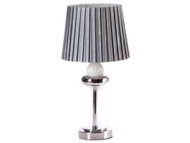 Lámpara mesa gris 26x26x44 cm