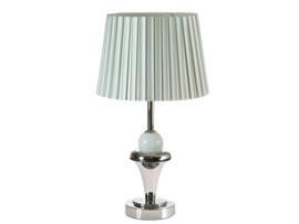 Lámpara mesa plateada 28x28x43 cm