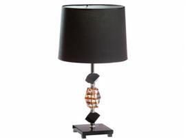 Lámpara ámbar/negro 28x50