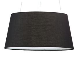 Lámpara techo negro 50x30