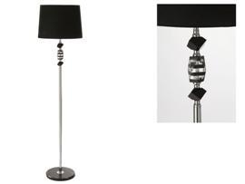 Lámpara cristal con pantalla negra 40x160