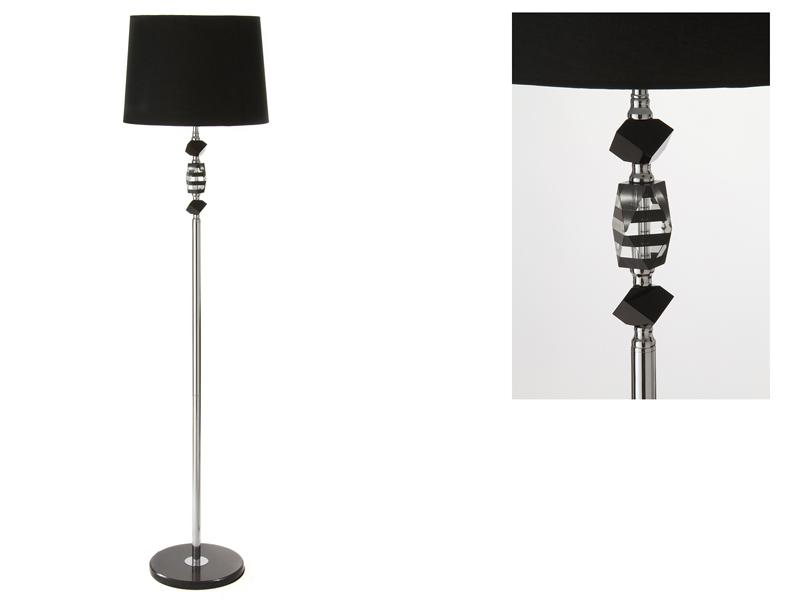 L mpara cristal con pantalla negra 40x160 for Santiago pons decoracion