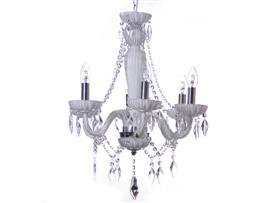 Lámpara 6 brazos transparente 50x50x56